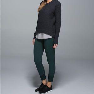 Lululemon Yogi Crew Wool Sweater Heather Black